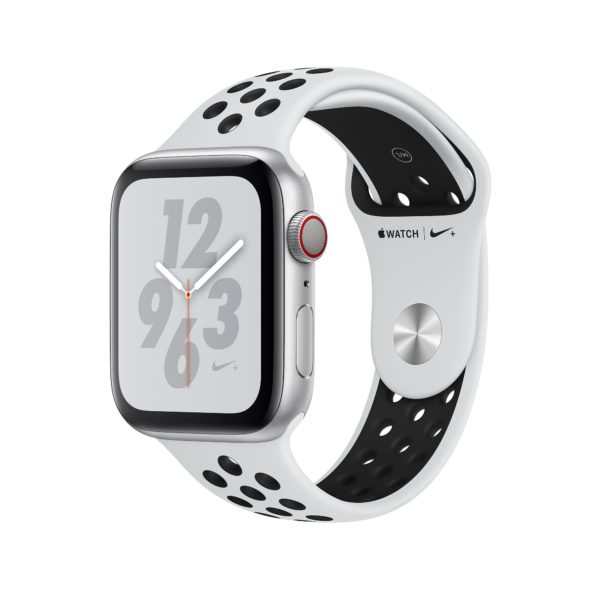 Apple Watch Nike+ Series 4 Silver Aluminium Case with Pure Platinum/Black Nike Sport Band