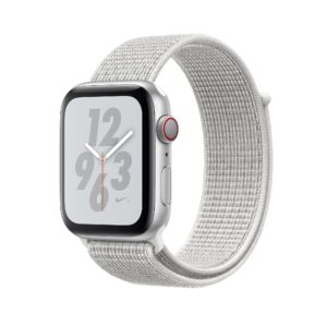 Apple Watch Nike+ Series 4 Silver Aluminium Case with Summit White Nike Sport Loop