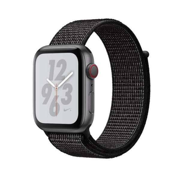 Apple Watch Nike+ Series 4 Space Grey Aluminium Case with Black Nike Sport Loop