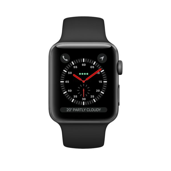 Apple Watch Series 3 Space Grey Aluminium Case with Black Sport Band