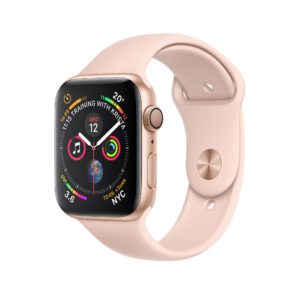 Apple Watch Series 4 Gold Aluminium Case with Pink Sand Sport Band