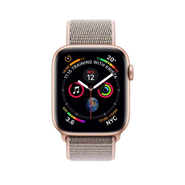 Apple Watch Series 4 Gold Aluminium Case with Pink Sand Sport Loop