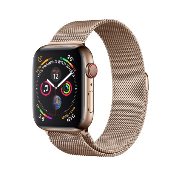 Apple Watch Series 4 Gold Stainless Steel Case with Gold Milanese Loop