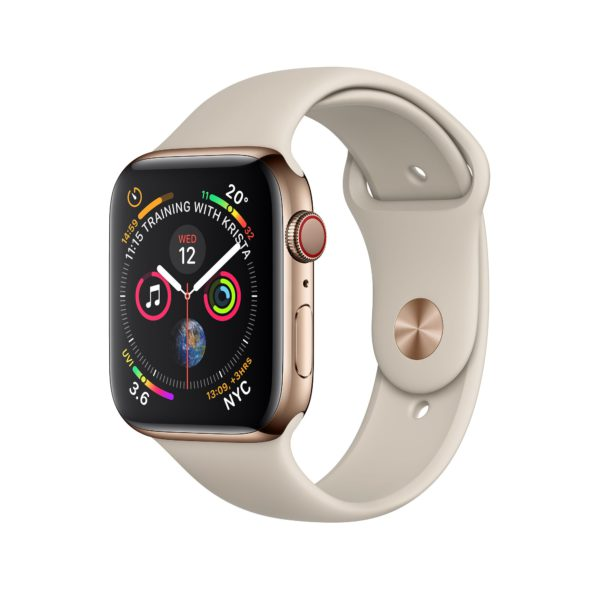 Apple Watch Series 4 Gold Stainless Steel Case with Stone Sport Band