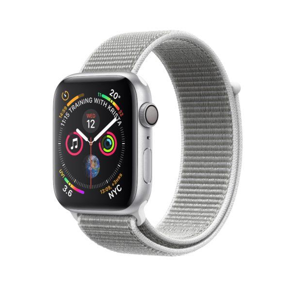Apple Watch Series 4 Silver Aluminium Case with Seashell Sport Loop