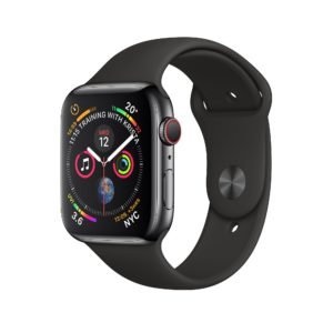 Apple Watch Series 4 Space Black Stainless Steel Case with Black Sport Band
