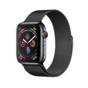 Apple Watch Series 4 Space Black Stainless Steel Case with Space Black Milanese Loop