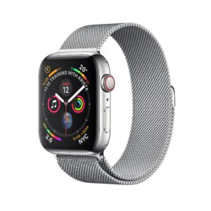 Apple Watch Series 4 Stainless Steel Case with Milanese Loop