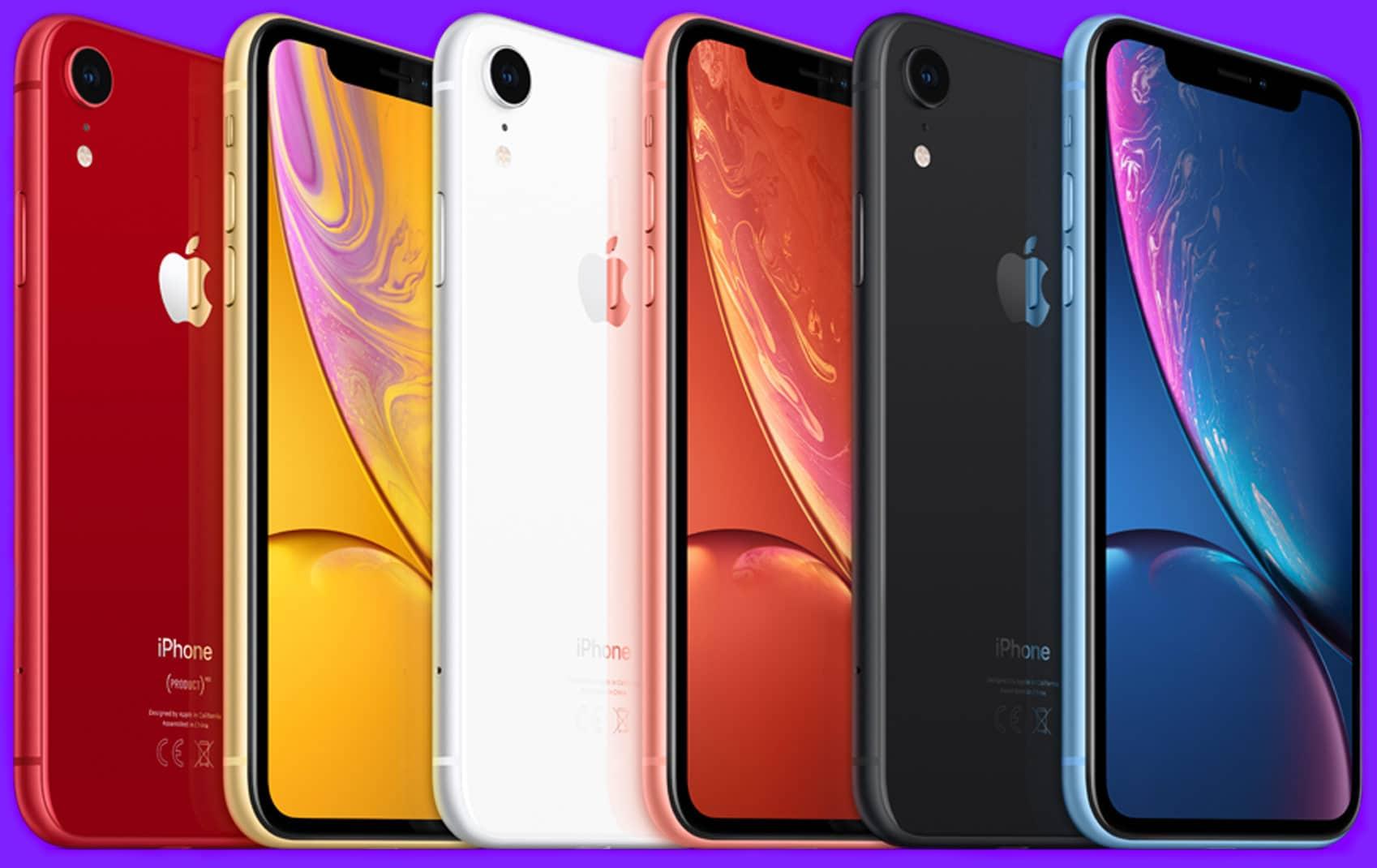 iPhone XR a