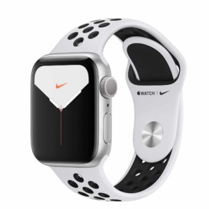 Apple Watch Nike Series 5 Silver Aluminium Case with Pure Platinum/Black Nike Sport Band