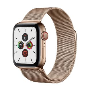 Apple Watch Series 5 Gold Stainless Steel Case with Gold Milanese Loop
