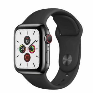 Apple Watch Series 5 Space Black Stainless Steel Case with Black Sport Band