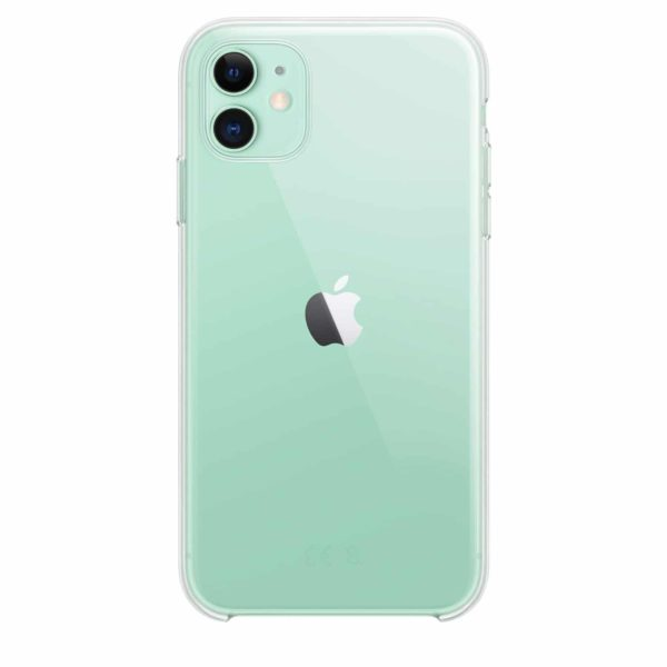 iPhone 11 clear case - green