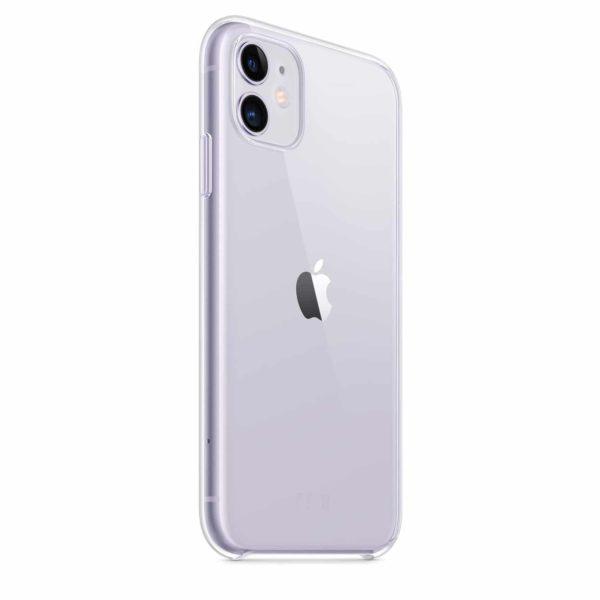 iPhone 11 clear case - purple