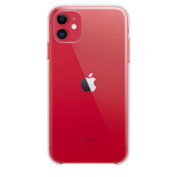 iPhone 11 clear case - red