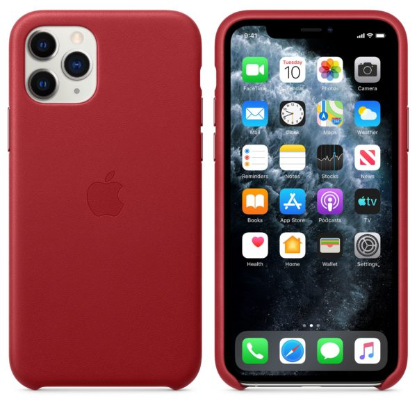iPhone 11 Pro Leather Case - Product Red