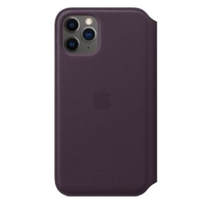 iPhone 11 Pro Leather Folio - Aubergine