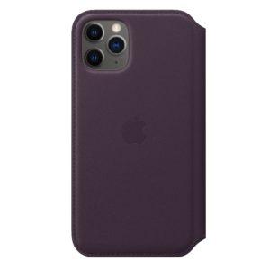 iPhone 11 Pro Leather Folio - Aubergine