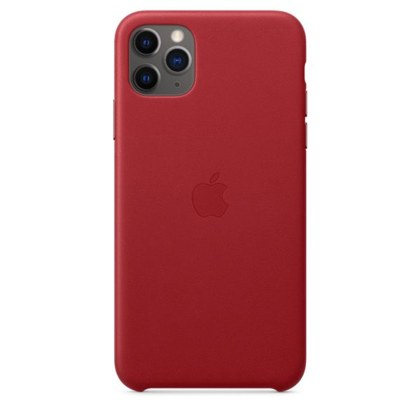 iPhone 11 Pro Max Leather Case - Product Red
