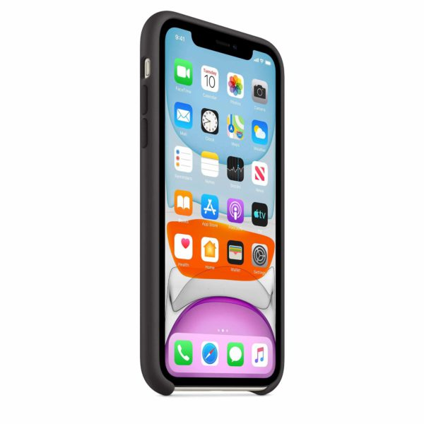 iPhone 11 Silicone Case - Black - Front