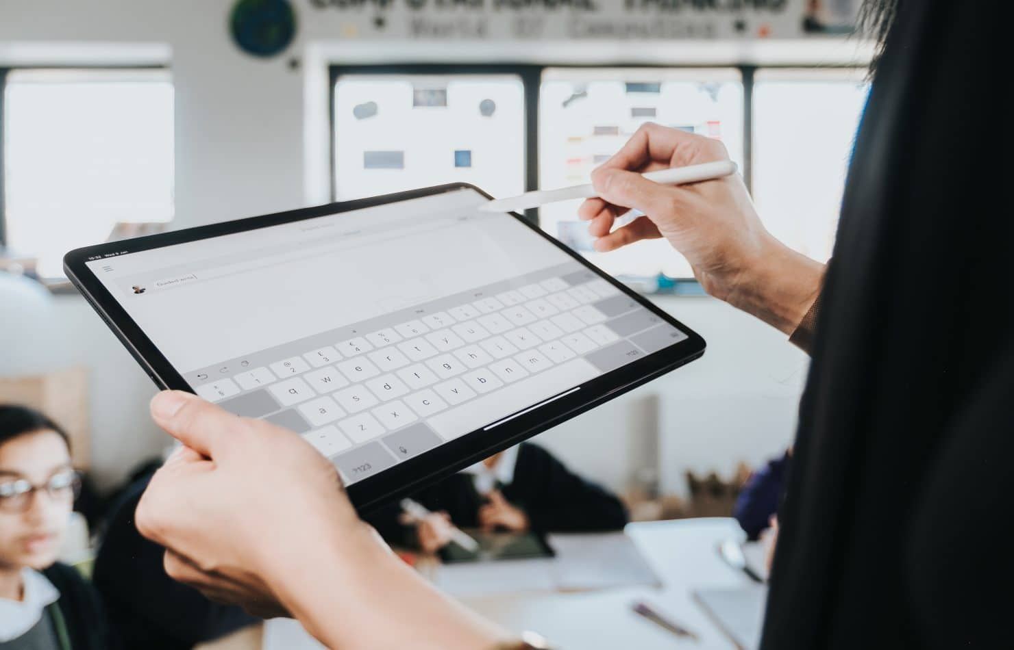 Teacher reducing workload through iPad