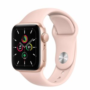 Apple Watch SE Gold Aluminium Case with Pink Sand Sport Band