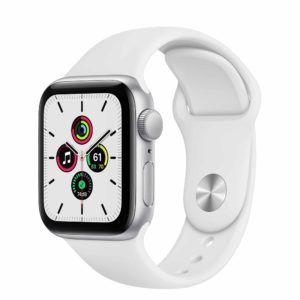 Apple Watch SE Silver Aluminium Case with White Sport Band