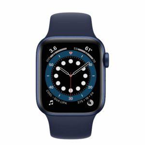 Apple Watch Series 6 Blue Aluminium Case with Deep Navy Sport Band